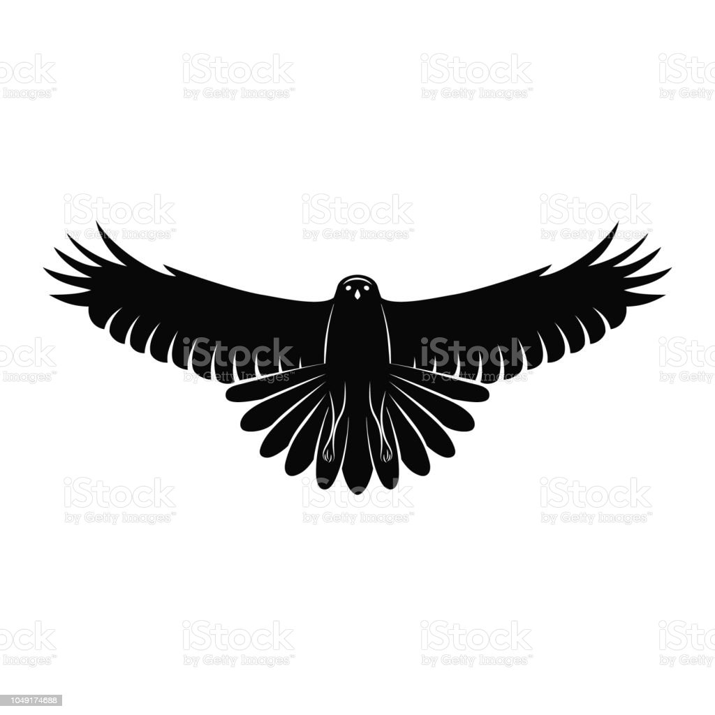 Flying Falcon Elegant Logo Template Silhouette Of A Wild ...