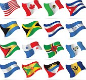Flying Flags - North and Central America