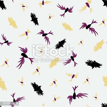 istock flying flock of birds seamless vector pattern 1210345653