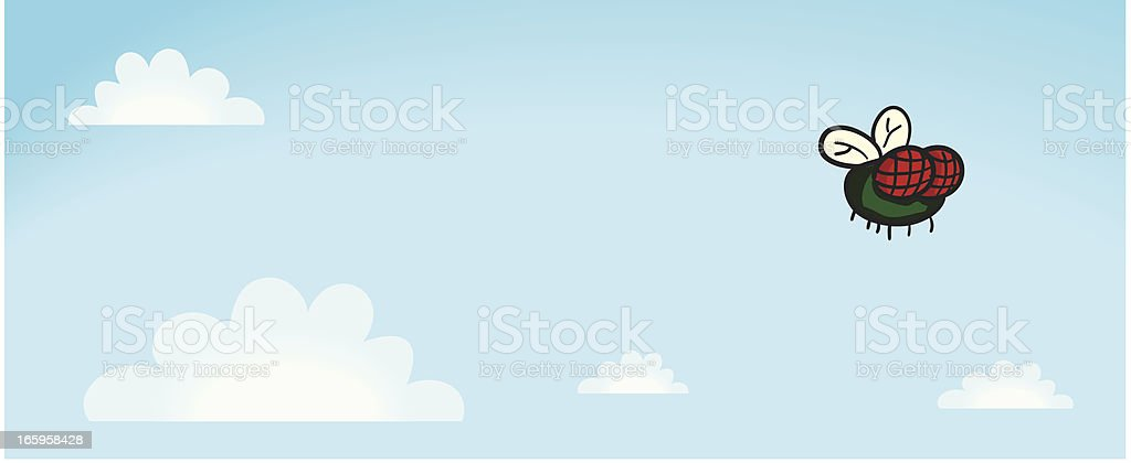Flying Fly royalty-free stock vector art