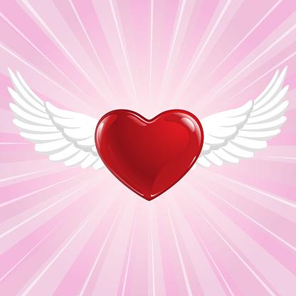 Flying Heart Symbol