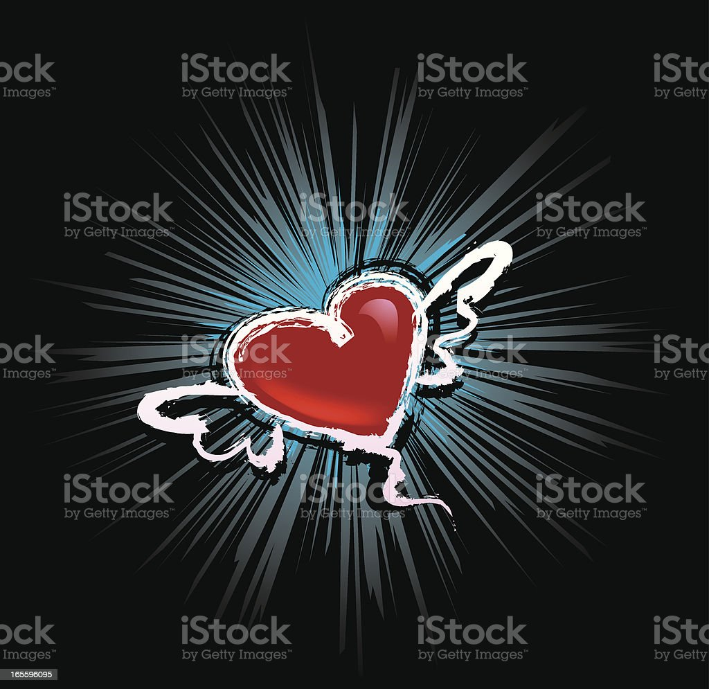 flying heart royalty-free flying heart stock vector art & more images of animal body part