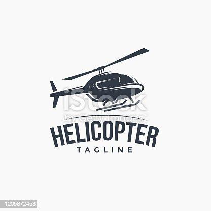 istock flying helicopter logo 1205872453
