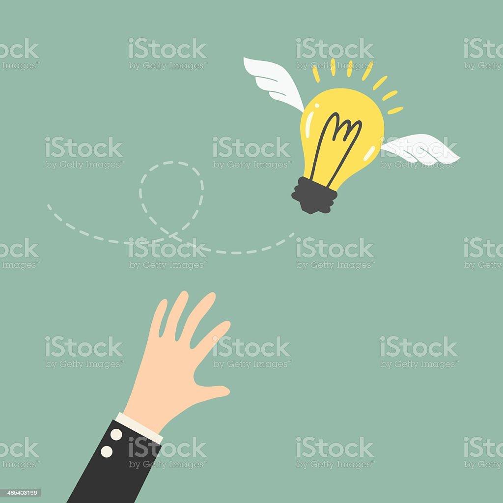 Flying Idea vector art illustration