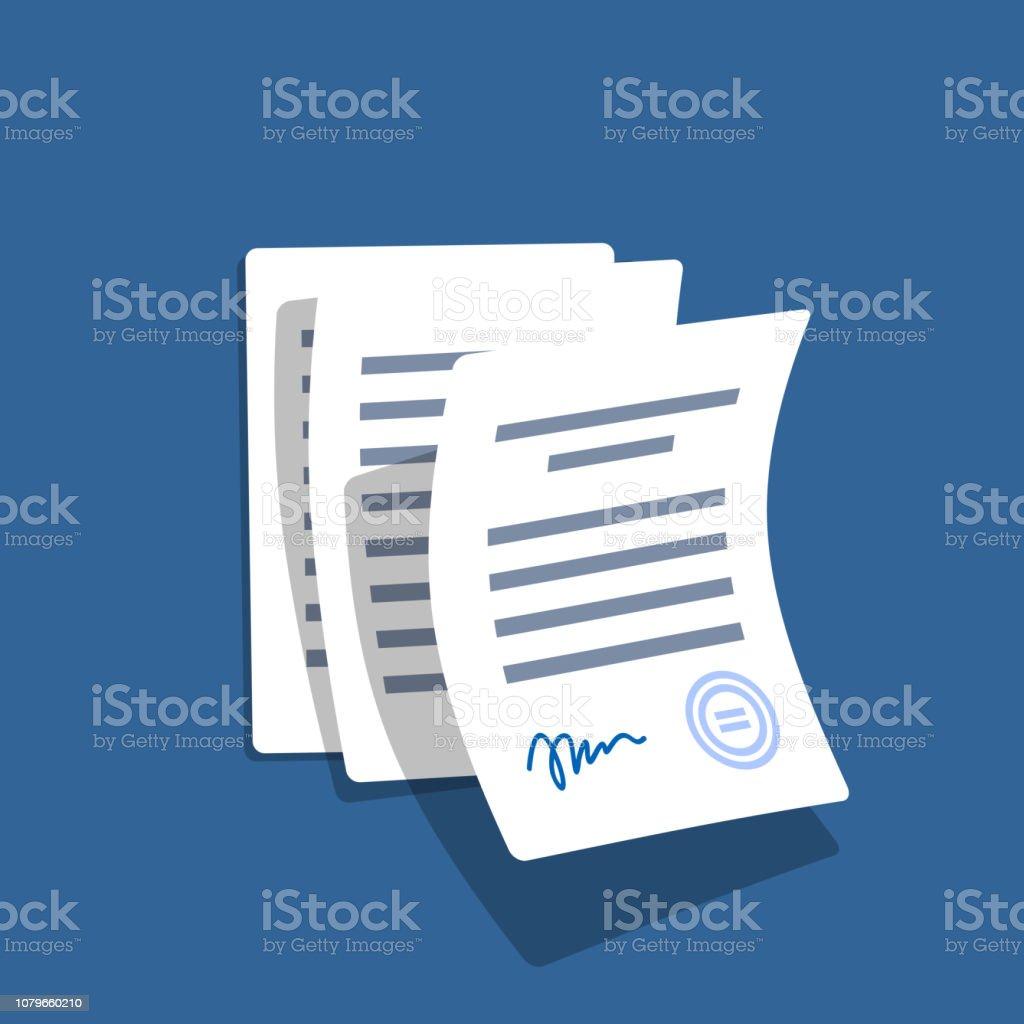 Fliegen Office-Dokumente. - Lizenzfrei Abmachung Vektorgrafik
