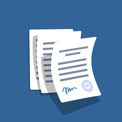 Fliegen Officedokumente Stock Vektor Art und mehr Bilder von Abmachung