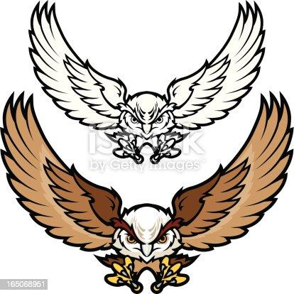 istock Flying Owl 165068951