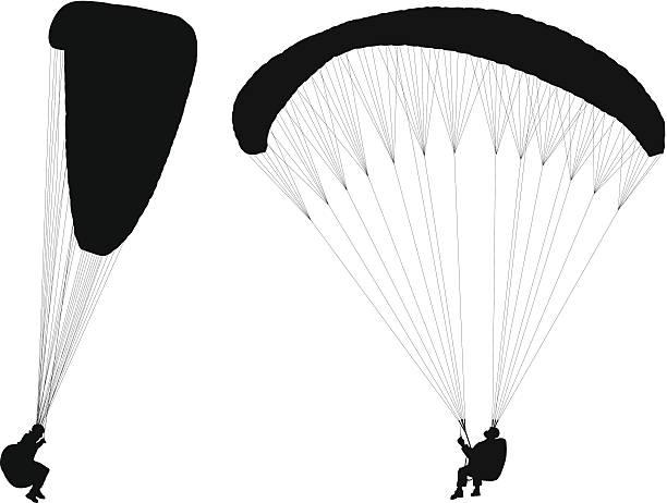 Royalty free paragliding clip art vector images - Parapente dessin ...