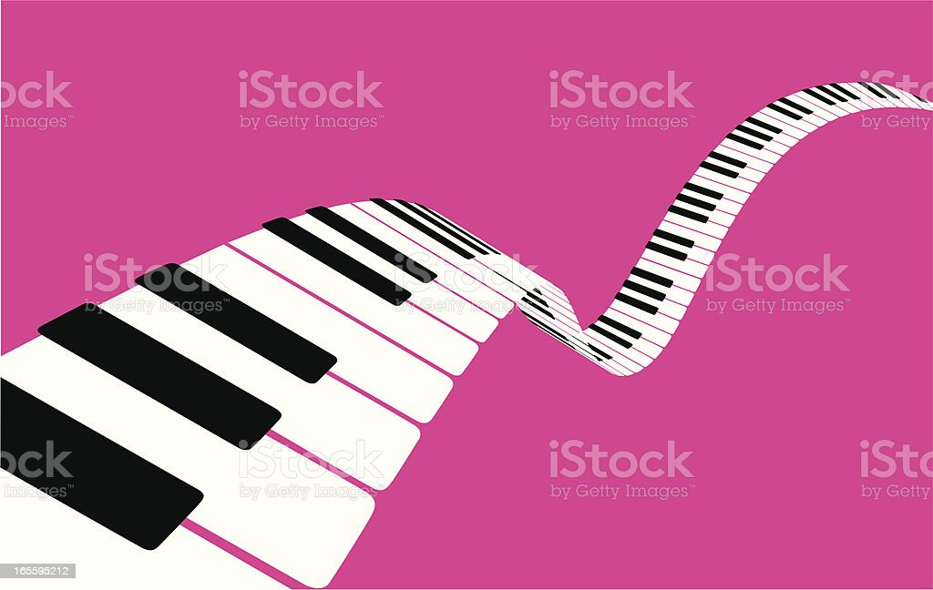 Flying piano keys [VECTOR]