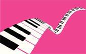 Flying piano keys [VECTOR]