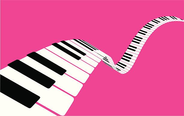 flying piano keys [vector] - piano stock illustrations