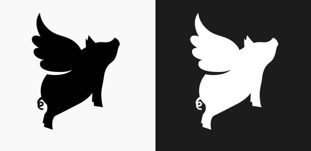 Royalty Free Pig Black Background Clip Art, Vector Images ...