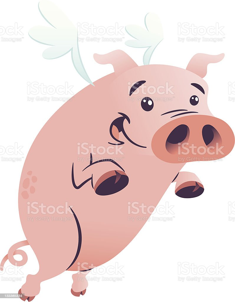 Flying Pig royalty-free flying pig stock vector art & more images of animal
