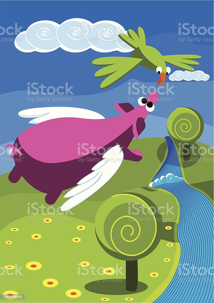flying pig royalty-free flying pig stock vector art & more images of animal body part