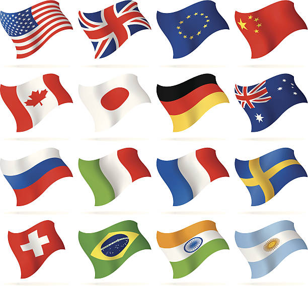 flying popular flags - union jack flag stock illustrations, clip art, cartoons, & icons