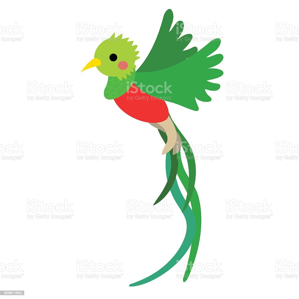 flying quetzal bird animal cartoon character vector newspaper victor id newspaper victor id