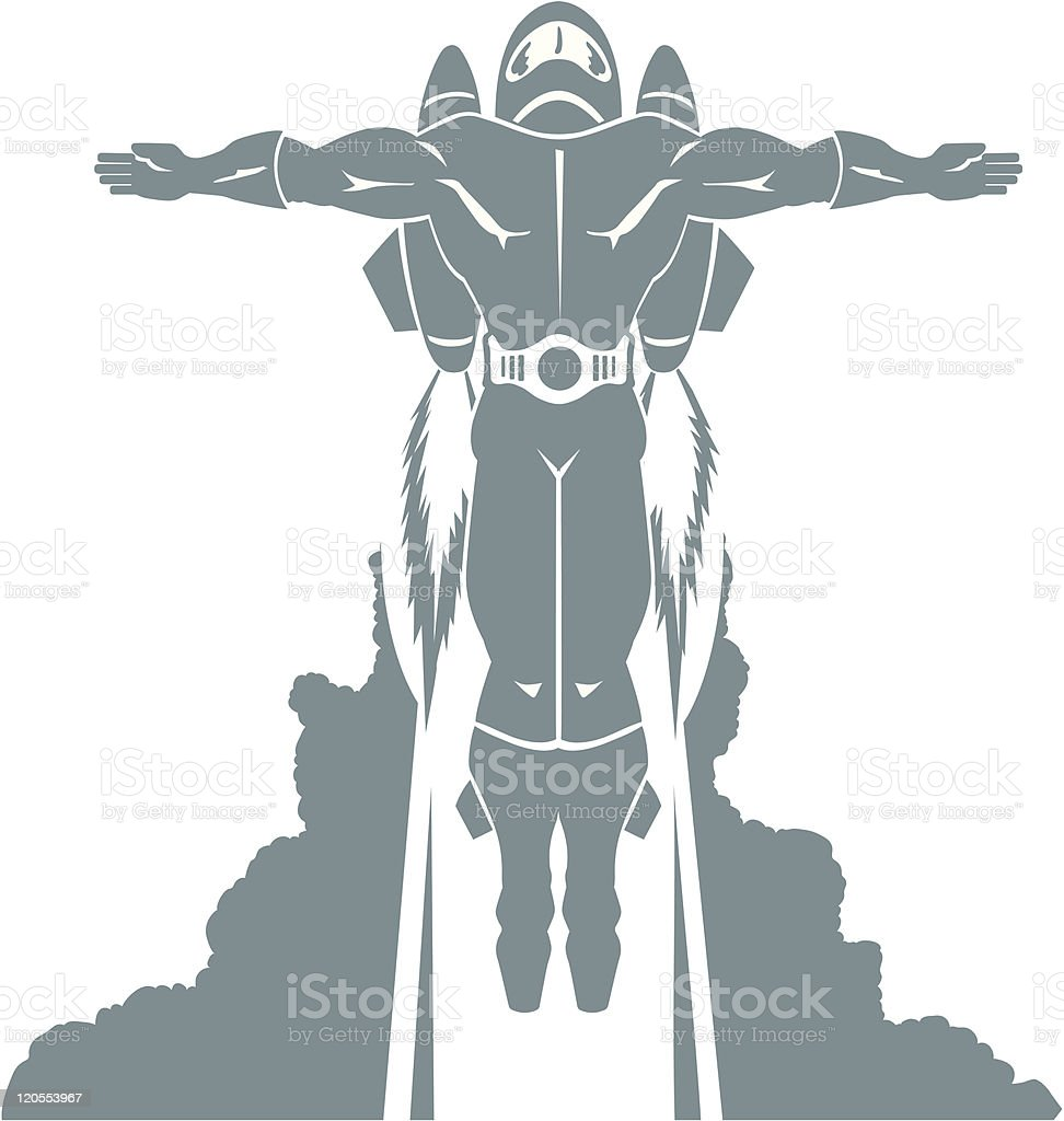 Flying rocket dude royalty-free flying rocket dude stock vector art & more images of adult