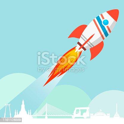 Flying Rocket Launch