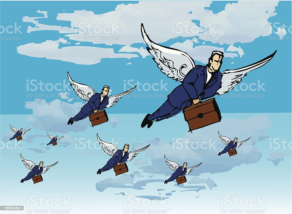 flying salesmen royalty-free stock vector art