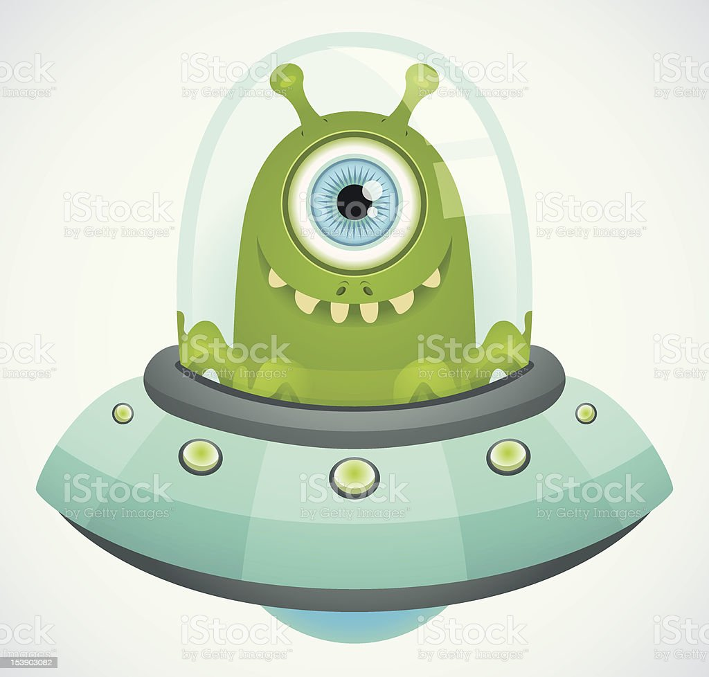 Flying Saucer vector art illustration