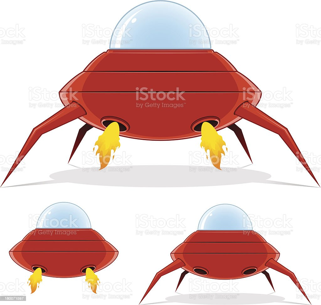 Flying saucer royalty-free stock vector art