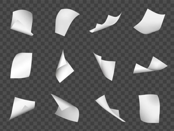 bildbanksillustrationer, clip art samt tecknat material och ikoner med flygande pappersark - stor grupp av objekt