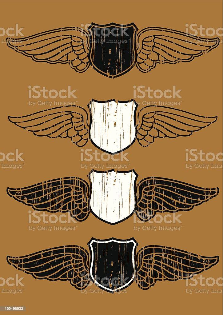 flying shield royalty-free stock vector art