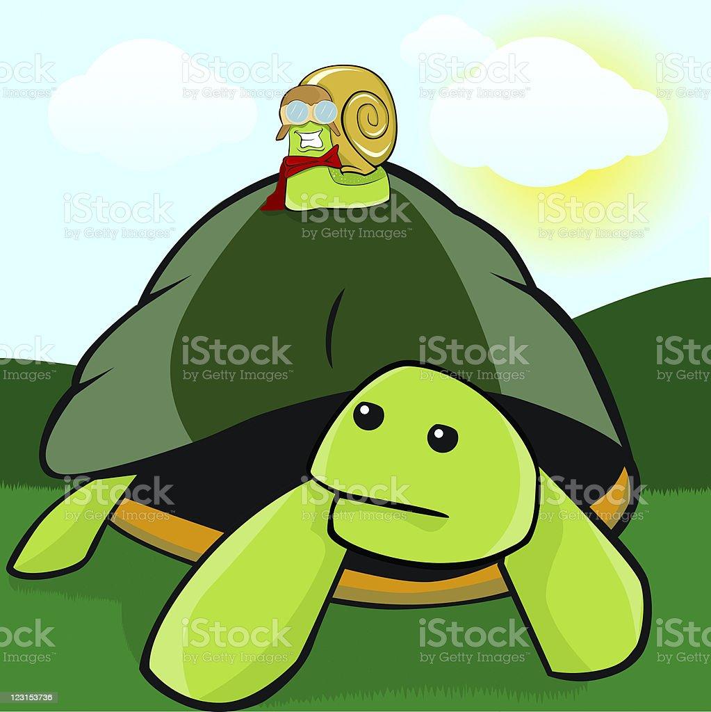 Flying Snail royalty-free stock vector art
