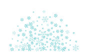 Flying snowflakes. Winter decoration element isolated on the white background.