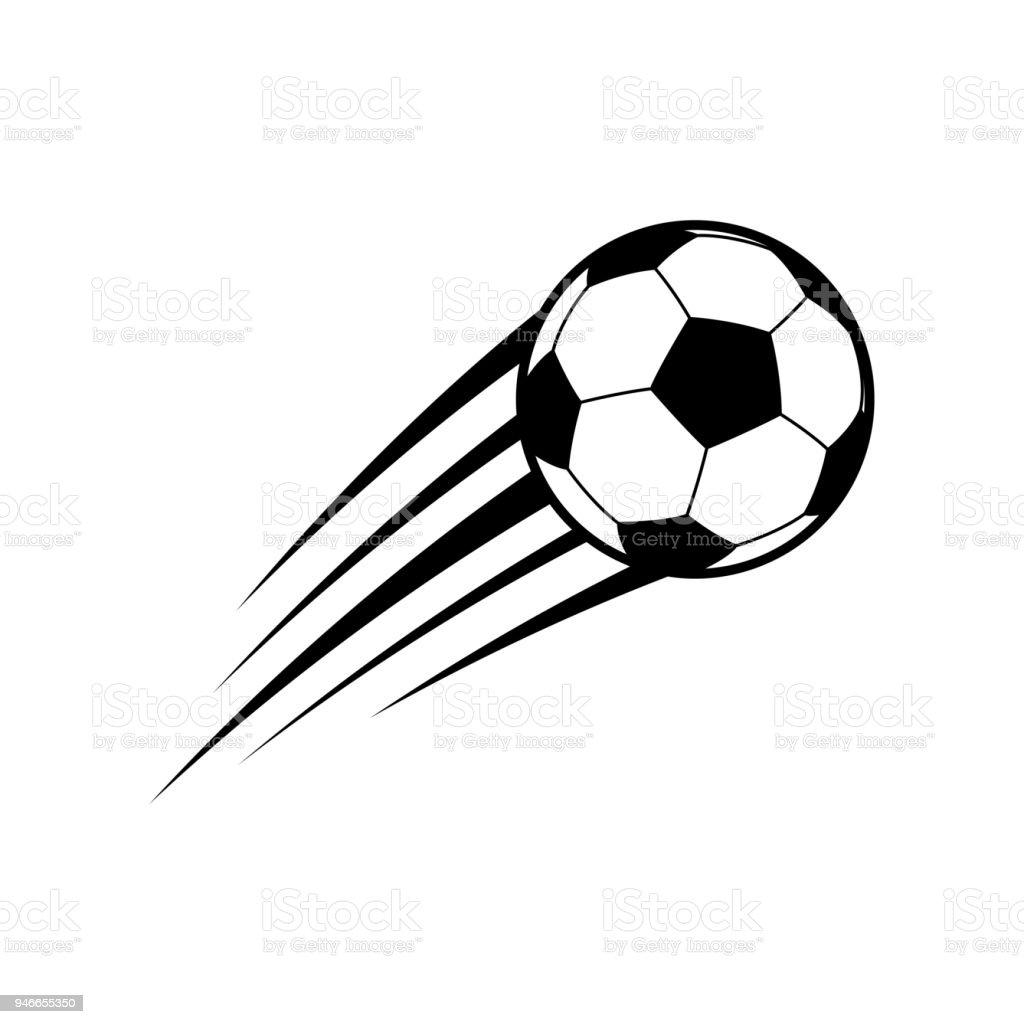 flying soccer ball vector stock vector art more images of ball rh istockphoto com soccer ball vector with solid white soccer ball vector free