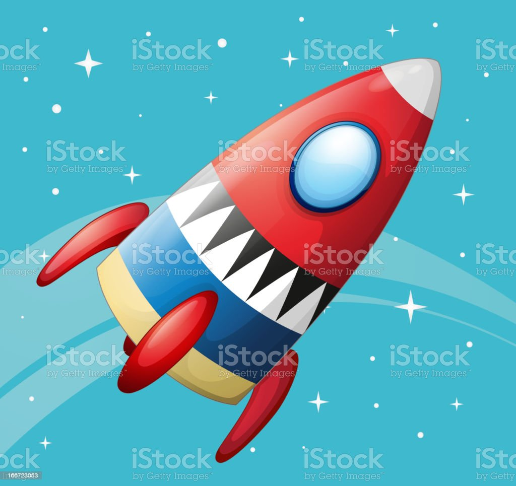 Flying spaceship royalty-free stock vector art