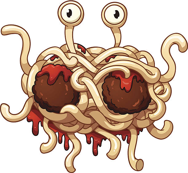 spaghetti-monster - spaghetti stock-grafiken, -clipart, -cartoons und -symbole