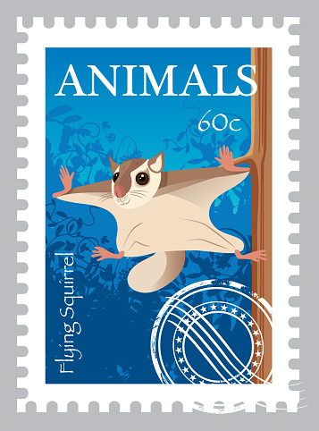 Flying Squirrel Stamp