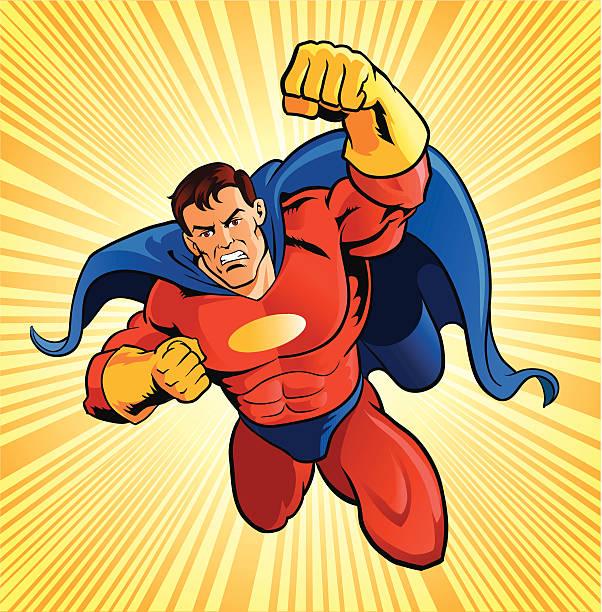illustrations, cliparts, dessins animés et icônes de super héros volant - modèles de bande dessinée
