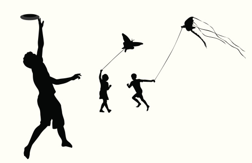 Flying Things Vector Silhouette