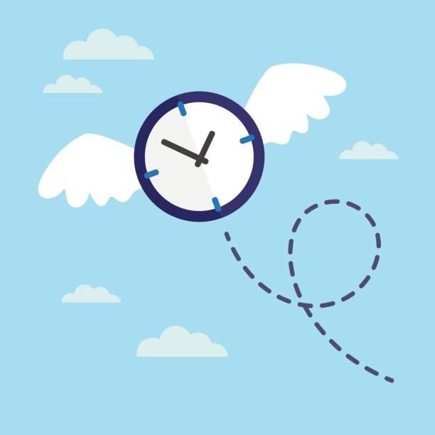 Flying tiempo de - ilustración de arte vectorial
