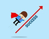 istock Flying to success 1326039067