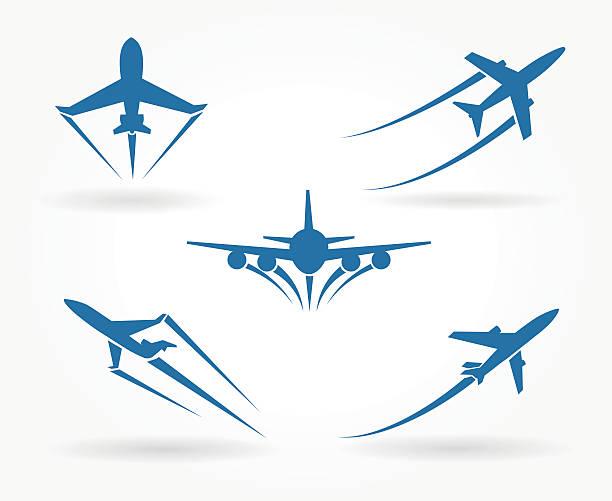 플라잉 바라요 비행기 아이콘 - 복엽기 stock illustrations