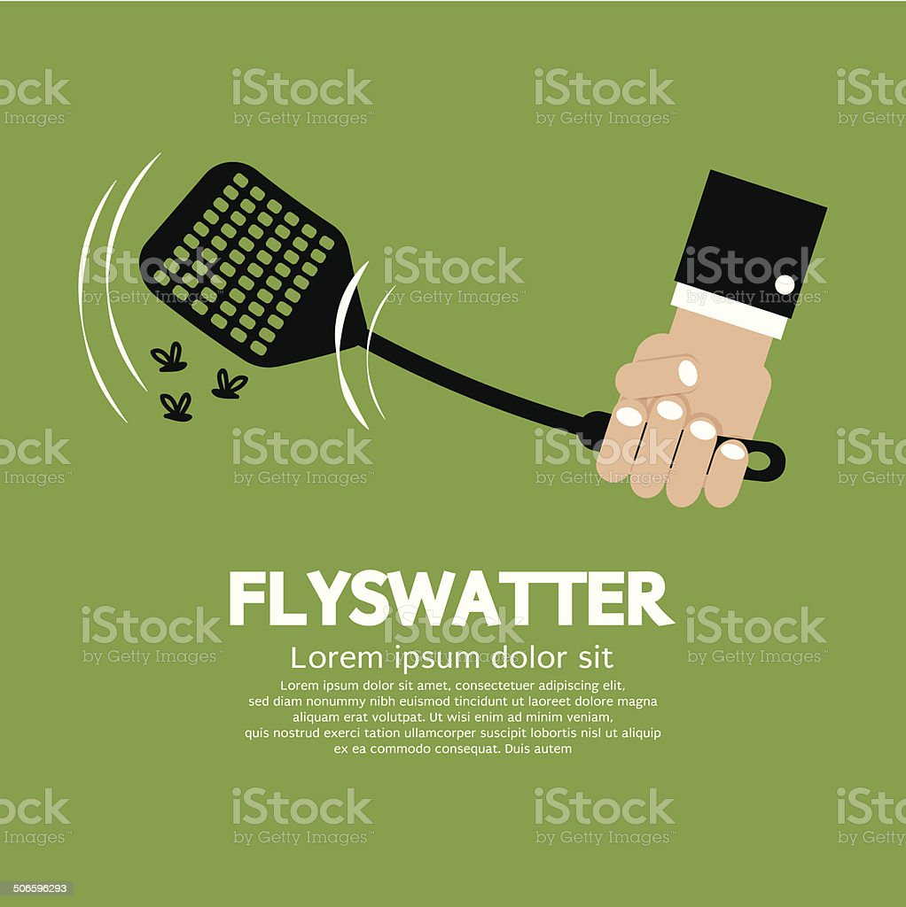 Flyswatter In Hand Vector Illustration vector art illustration
