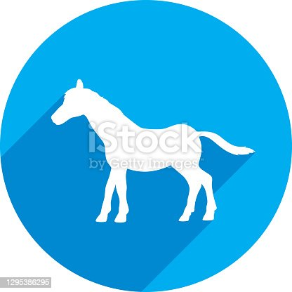 istock Foal Icon Silhouette 1295386295