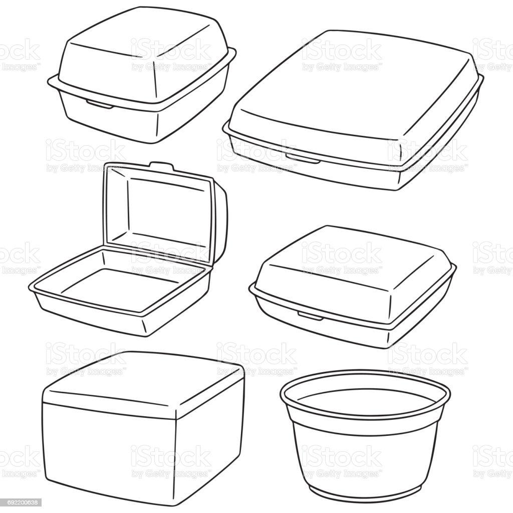 foam container vector art illustration