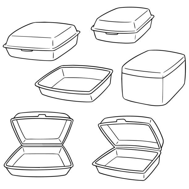 foam container – artystyczna grafika wektorowa