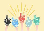 istock Foam Fan Finger Design 1199901541