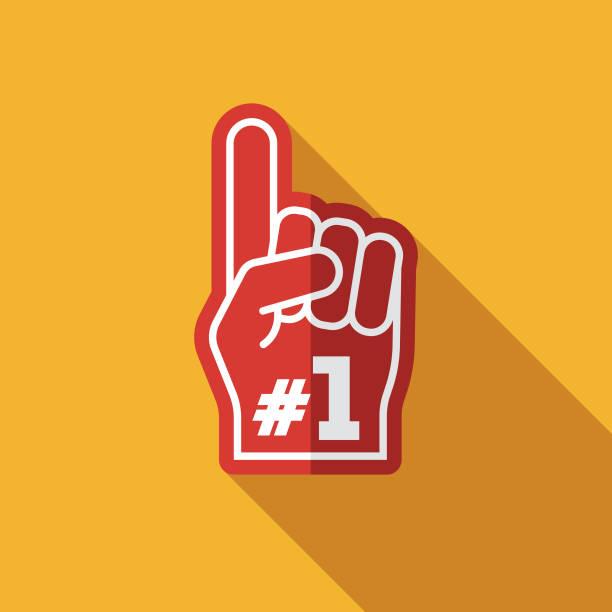 bildbanksillustrationer, clip art samt tecknat material och ikoner med ikon för skum finger tilldelning - nummer 1