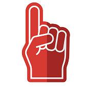 istock Foam Finger Icon on Transparent Background 1284317508