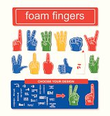 Foam finger set