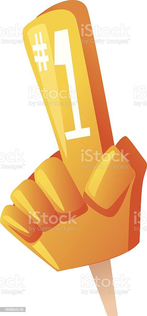 Foam Finger royalty-free stock vector art