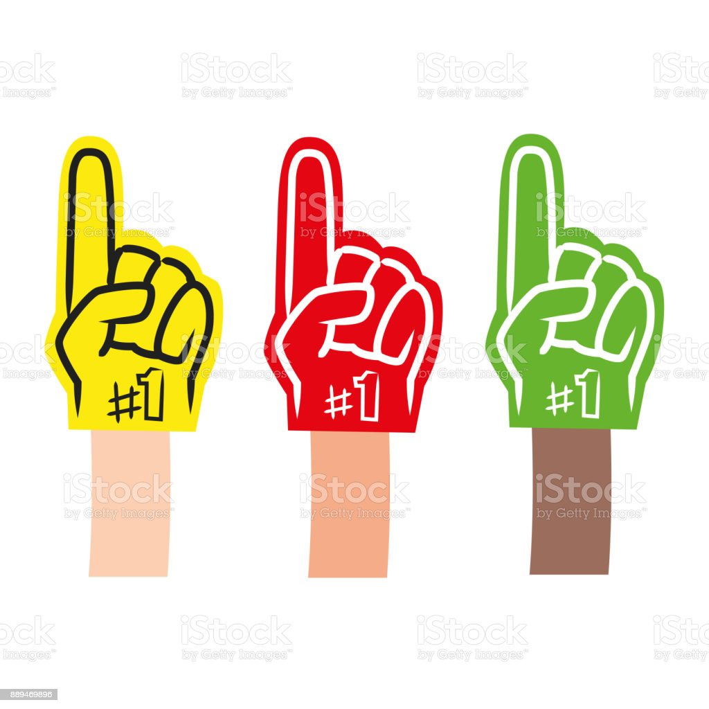 Foam Finger vector art illustration