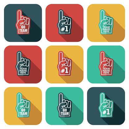 Foam Fingers Icon Set