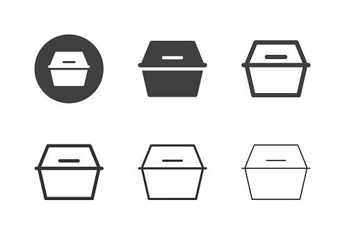 Foam Food Box Icons - Multi Series